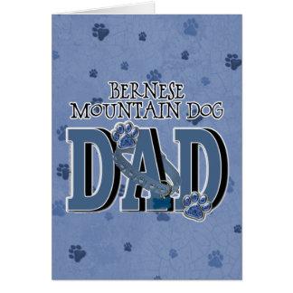 Cartão PAI do cão de montanha de Bernese