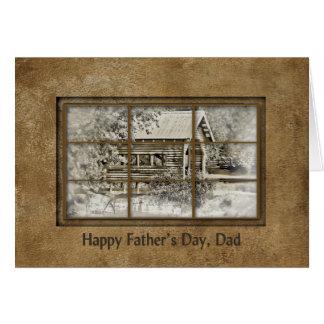 Cartão Pai do pregador do dia de pai - ponte