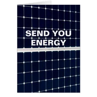 Cartão Painel de energias solares