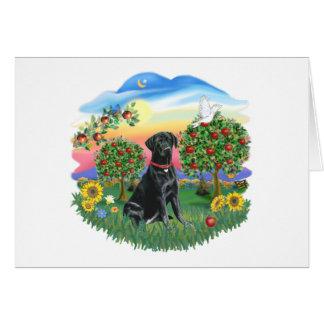 Cartão País brilhante - Labrador preto