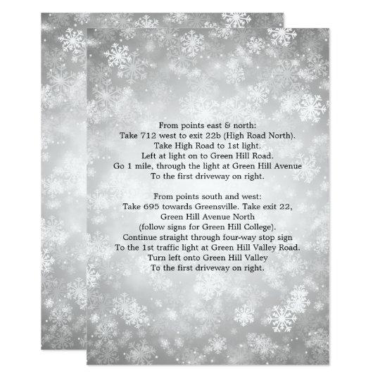 Cartão País das maravilhas de prata do inverno dos