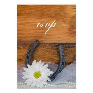 Cartão País em ferradura da margarida branca que Wedding