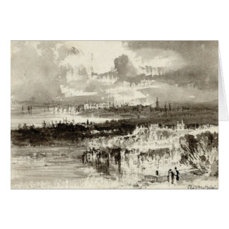 Cartão Paisagem abstrata 1830