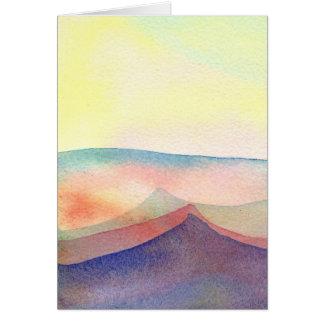 Cartão Paisagem abstrata (a270)