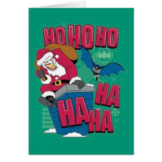 Cartão Palhaço Papai Noel de Batman | que escala para