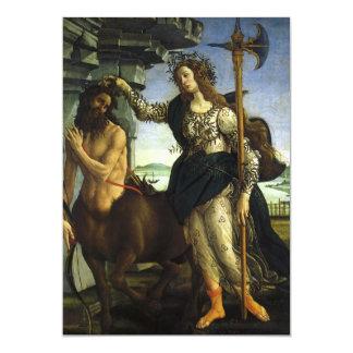 Cartão Pallas e o centauro por Sandro Botticelli