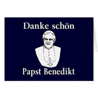 Cartão Papa Benedict de Danke Schon