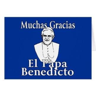 Cartão Papa Benedict de Muchas Gracias