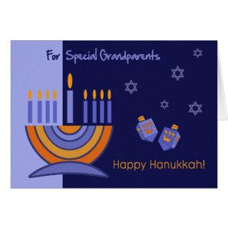Cartão Para avós em Hanukkah