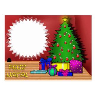 """Cartão para foto """"Presentes de Natal"""" Cartão Postal"""