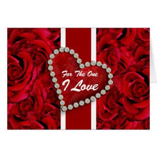 """Cartão """"Para mulheres românticas dos homens do um amor de"""