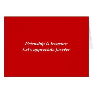 Cartão Para sempre amizade