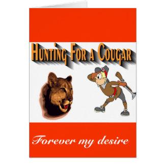 Cartão para sempre meu puma do desejo