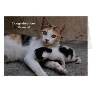 Cartão Parabéns Momma!