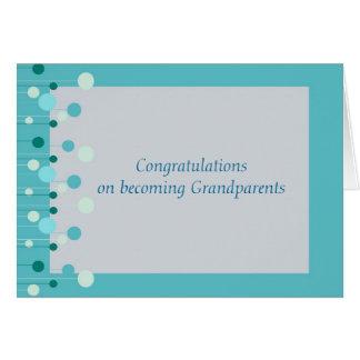 Cartão Parabéns para avós no azul