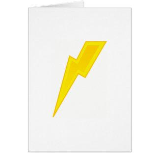 Cartão Parafuso de relâmpago amarelo