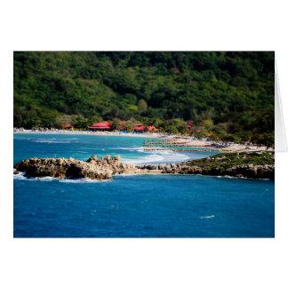 Cartão Paraíso tranquilo Labadee Haiti da ilha