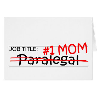 Cartão Paralegal da mamã do trabalho