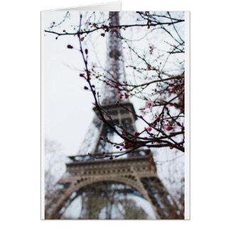 Cartão Paris romântica