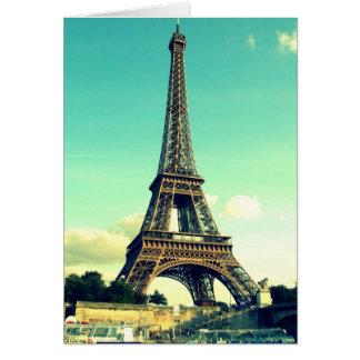 Cartão Paris/torre Eiffel Notecard (vazio)