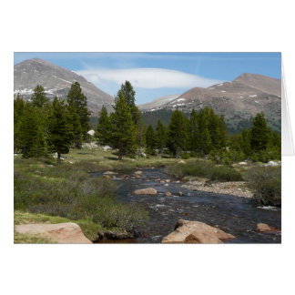 Cartão Parque alto do córrego III Yosemite da montanha do