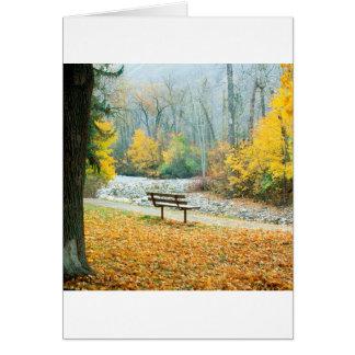 Cartão Parque Missoula Montana de Greenough do outono