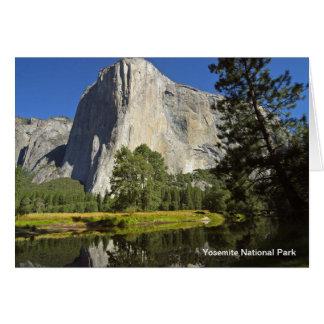 Cartão Parque nacional de Yosemite