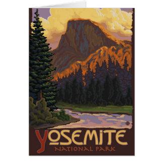 Cartão Parque nacional de Yosemite - meio poster de
