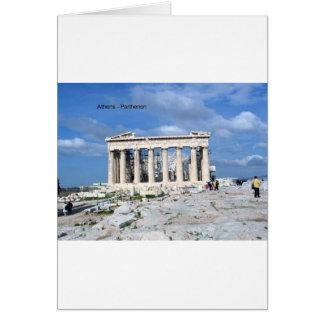 Cartão Partenon de Atenas