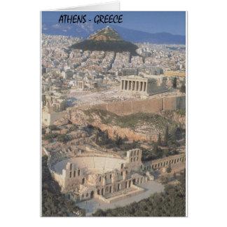 Cartão Partenon do herodion de Atenas da piscina (St.K.)