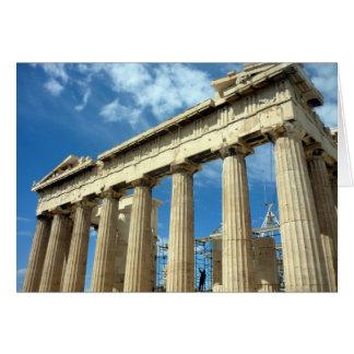 Cartão Partenon do templo