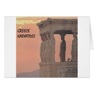 Cartão Partenon-Karyatides de Atenas da piscina (St.K)