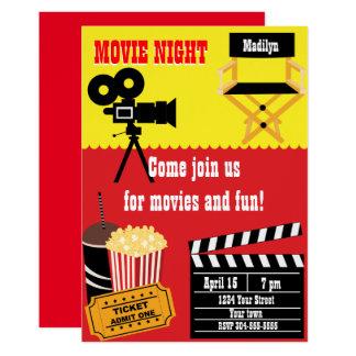 Cartão Partido da noite de cinema
