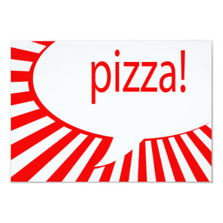 Cartão partido da pizza