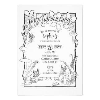 Cartão Partido de jardim feericamente Enchanted ilustrado
