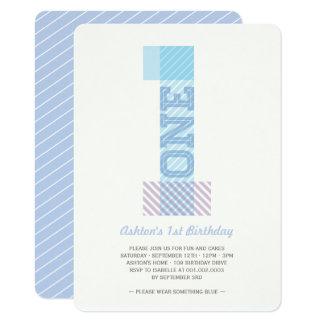Cartão Partido de primeiro aniversario grande do bebé das