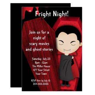 Cartão Partido do Dia das Bruxas da noite do susto