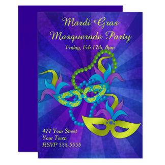 Cartão Partido do mascarada do carnaval
