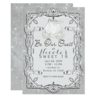 Cartão Partido elegante de Cinderella da carruagem de