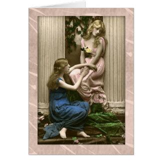 Cartão Partido épico, obrigado senhoras do Victorian