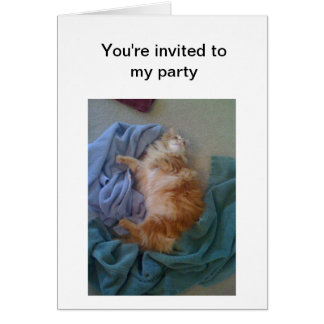 Cartão Partido sarcástico do gato