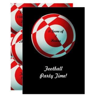 Cartão Partido vermelho do futebol (adicione a foto,