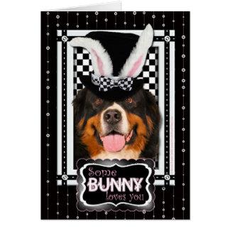 Cartão Páscoa - algum coelho o ama - Bernie