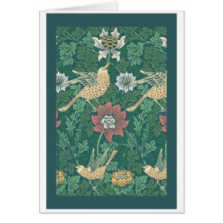 Cartão Pássaro de William Morris 'e anêmona Chintz