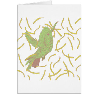 Cartão Pássaro e batatas fritas