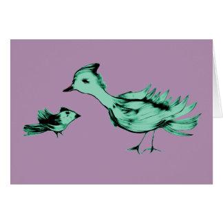 Cartão Pássaros estrangeiros