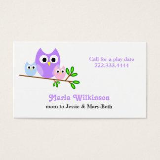 Cartão Pastel das mamães das corujas