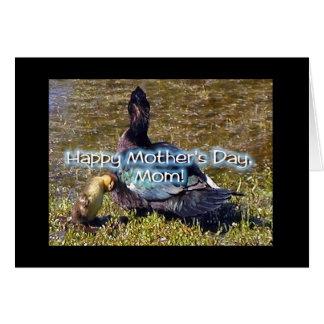 Cartão Pato de Momma & patinho pequeno