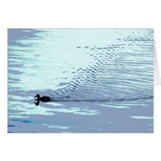 Cartão Pato e obrigado das ondinhas você