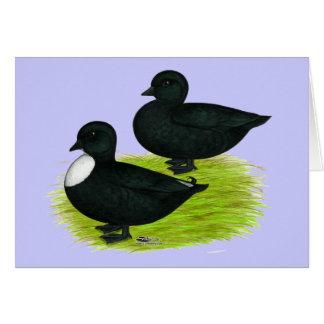 Cartão Patos:  Chamadas do preto